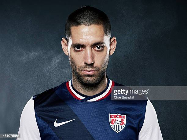Footballer Clint Dempsey is photographed on December 17 2013 in London England