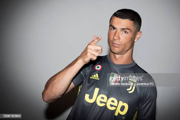 Footballer Cristiano Ronaldo poses for a portrait shoot on July 16 2018 in Turin Italy