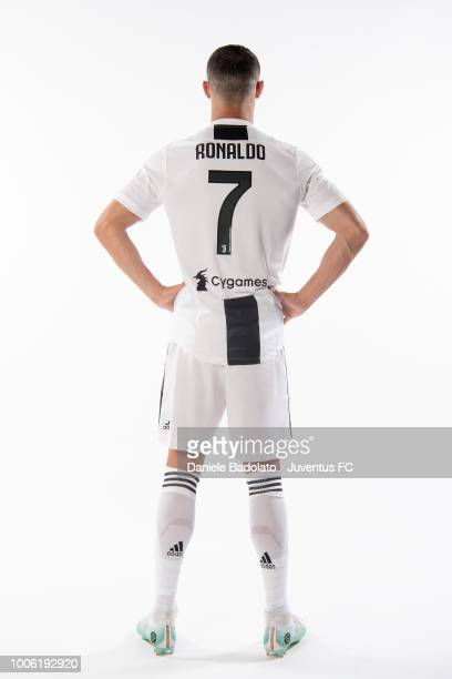 Footballer Cristiano Ronaldo poses for a portrait shoot on July 16, 2018 in Turin, Italy.