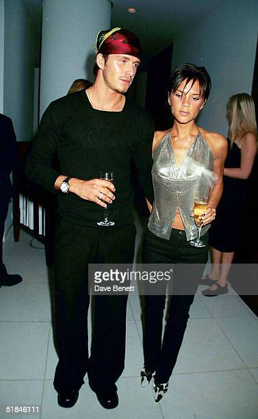 Footballer David Beckham and Singer Victoria Beckham attend the launch of Jade Jagger's jewelery range on September 20 1999 in Lodnon