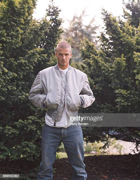 Footballer David Beckham is photographed for the Express on February 11 1999 in London England
