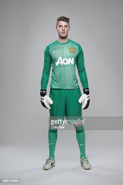 Footballer David de Gea is photographed on August 8 2013 in Manchester England