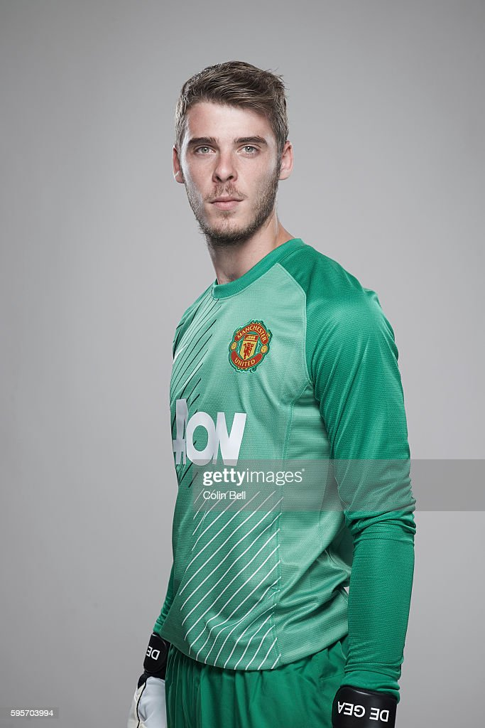 Footballer David de Gea is photographed on August 8, 2013 in Manchester, England.
