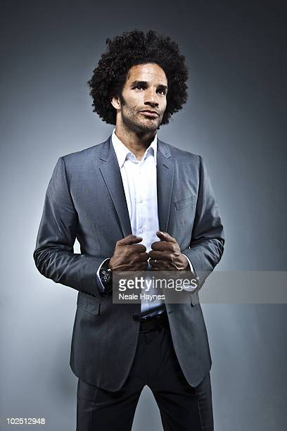 Footballer David James poses for a portrait shoot in London, May 12, 2010.