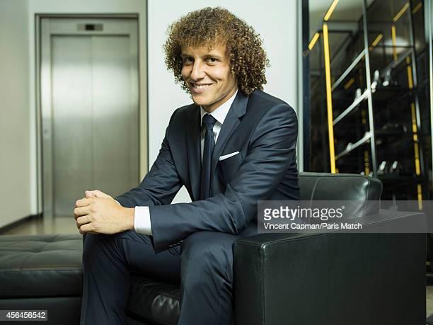 Footballer David Luiz is photographed for Paris Match on August 28 2014 in Paris France
