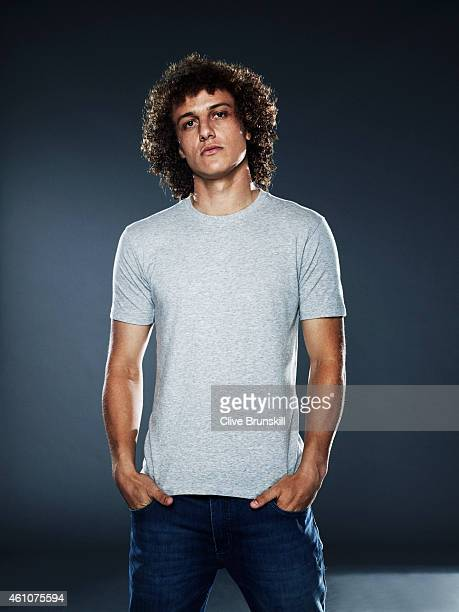 Footballer David Luiz is photographed on September 22 2013 in London England