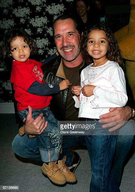 Footballer David Seaman and his children Robbie and Georgina attend the Laura Star Celebrity Screening at the Soho Hotel on February 5 2005 in London