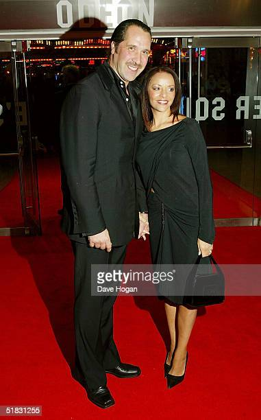 Footballer David Seaman and his wife Debbie arrive at the World Premiere of Phantom Of The Opera at the Odeon Leicester Square on December 6 2004 in...