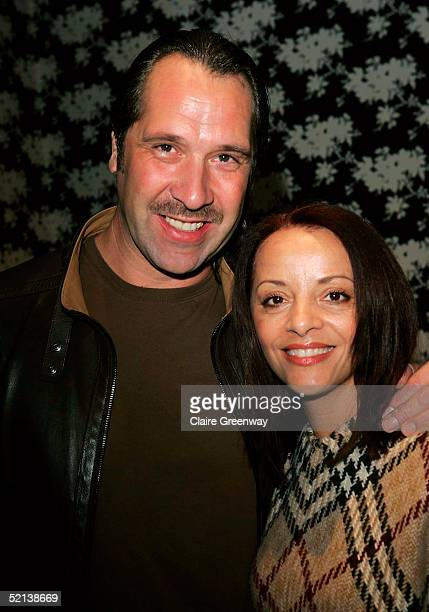 Footballer David Seaman and his wife Debbie attend the Laura Star Celebrity Screening at the Soho Hotel on February 5 2005 in London