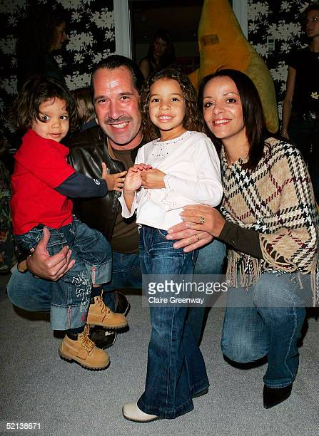 Footballer David Seaman his wife Debbie and their children Robbie and Georgina attend the Laura Star Celebrity Screening at the Soho Hotel on...