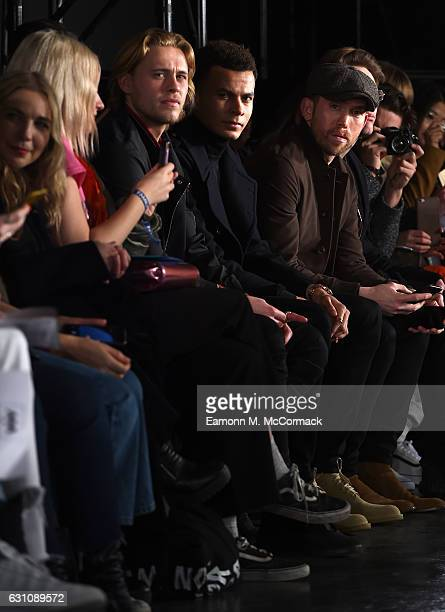 Footballer Dele Alli attends the Alex Mullins show during London Fashion Week Men's January 2017 collections at BFC Presentation Space on January 6...