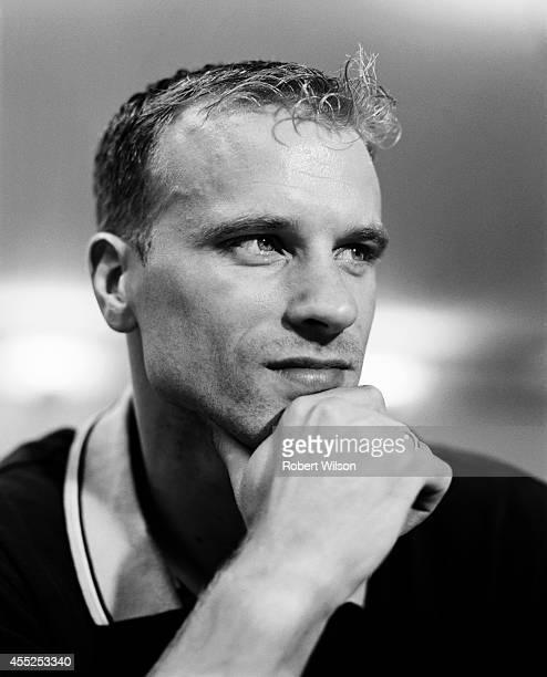 Footballer Dennis Bergkamp is photographed on August 1 2000 in London England