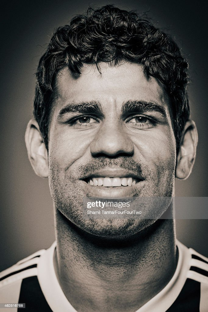 Footballer Diego Costa is photographed for FourFourTwo magazine on May 8, 2014 in London, England.