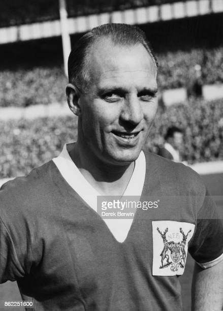 Footballer Eddie Baily , inside forward of Nottingham Forest F.C., and formerly of the England team, October 1957.