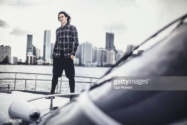 Footballer Edinson Cavani poses for a portrait on July 23 2017 in New York City