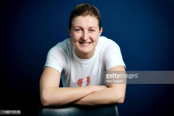 Footballer Ellen White is photographed for the Telegraph on November 10 2019 in Manchester England