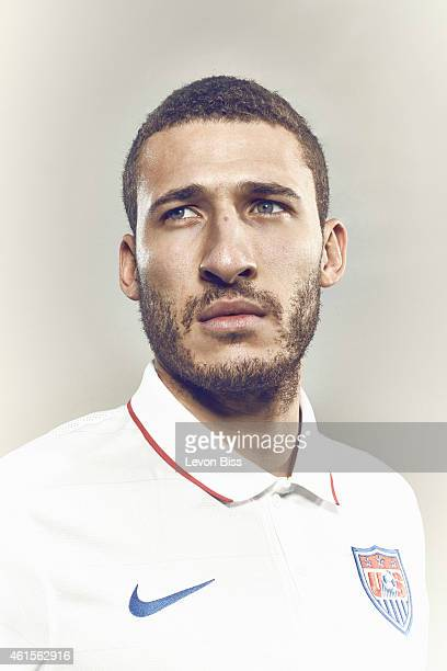 Footballer Fabian Johnson is photographed for Time magazine on March 3 2014 in Frankfurt Germany