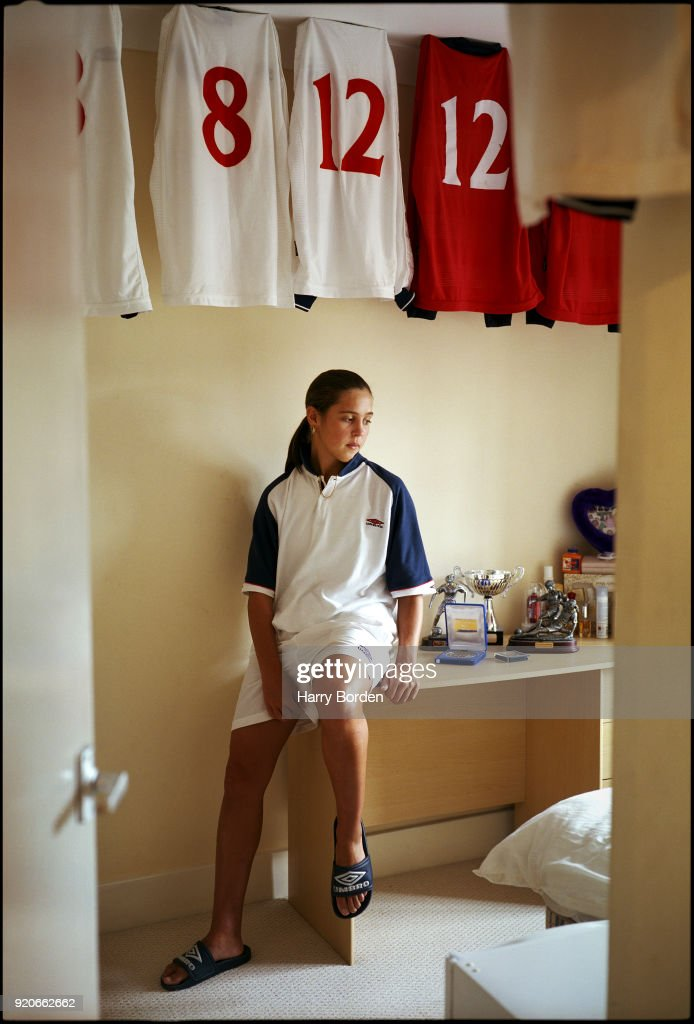Footballer Fara Williams photographed for the Observer on July 12, 2001 in London, England.