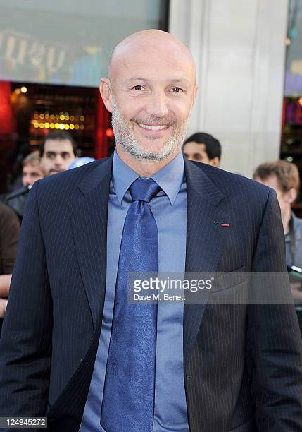 Footballer Franck Leboeuf arrives at the UK Premiere of 'Real Steel' at Empire Leicester Square on September 14 2011 in London England