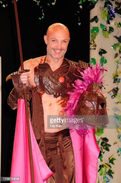Footballer Franck Leboeuf attends the Salon Du Chocolat 2010 Opening Night at the Parc des Expositions Porte de Versailles on October 27 2010 in...