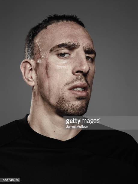 Footballer Franck Ribery is photographed on April 1 2010 in Paris France