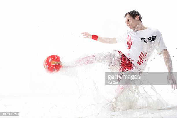 Footballer Franck Ribery is photographed on January 20, 2008 in Munich, Germany.