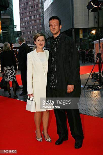 Footballer Fredi Bobic and wife Britta In Germany at Premiere Of The Interpreter In Berlin Cinestar