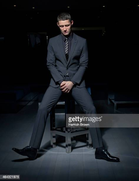 Footballer Gary Cahill is photogrpahed for Men's Health on October 25 2012 in London England