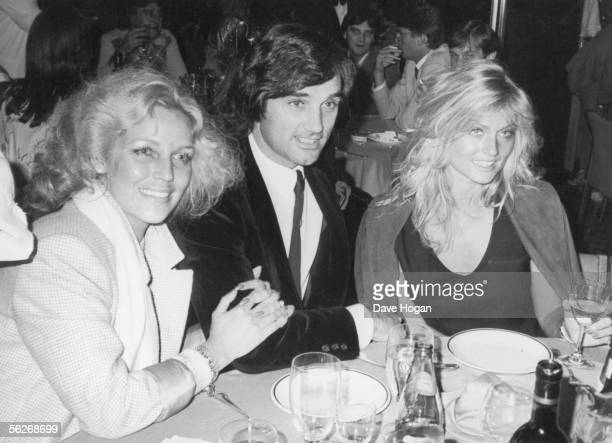 Footballer George Best with his wife the former Miss World Mary Stavin at the Silver Clef Pop Awards held at the Hotel Intercontinental London 6th...