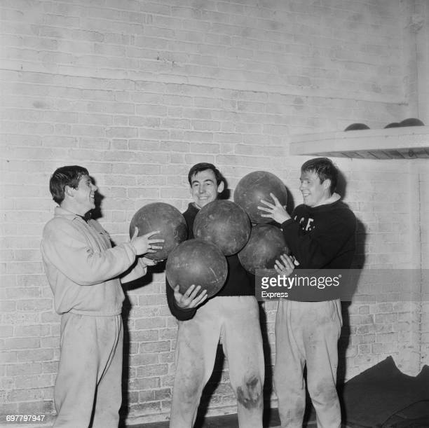 Footballer Gordon Banks of Leicester City FC preparing for the cup UK 10th February 1966