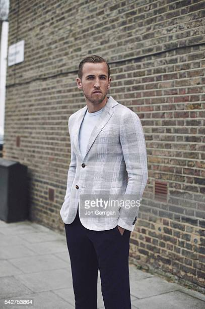 Footballer Harry Kane is photographed for Esquire magazine on April 16 2015 in London England