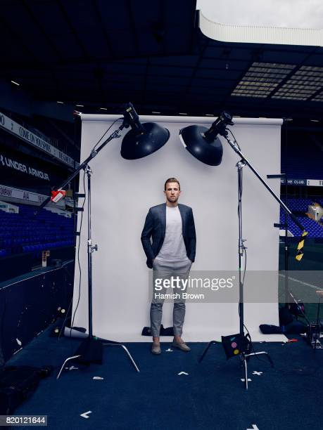 Footballer Harry Kane is photographed for Forever Sport magazine on April 13 2016 in London England