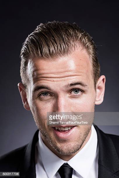 Footballer Harry Kane is photographed for FourFourTwo magazine on March 10 2015 in London England
