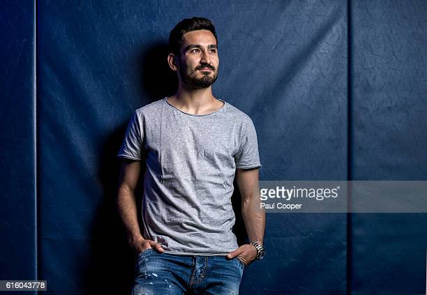 Footballer Ilkay Gundogan is photographed for the Telegraph on July 1 2016 in Manchester England