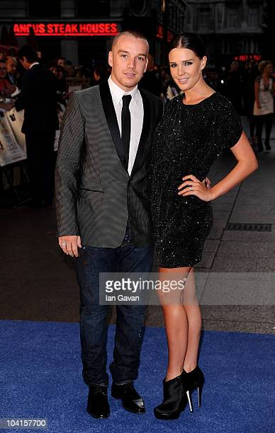 Footballer Jamie O'Hara and model Danielle Lloyd attend The Death And Life Of Charlie St Cloud UK film premiere at the Empire Leicester Square on...