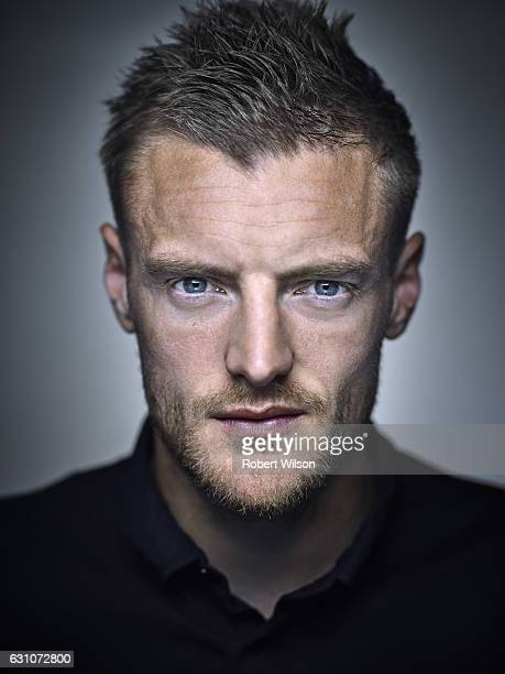 Footballer Jamie Vardy is photographed for Ebury Press on May 4 2016 in London England