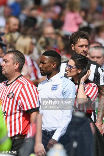 Footballer Jermain Defoe attends the funeral of six year old Sunderland FC fan Bradley Lowery at St Joseph's Church on July 14 2017 in Hartlepool...