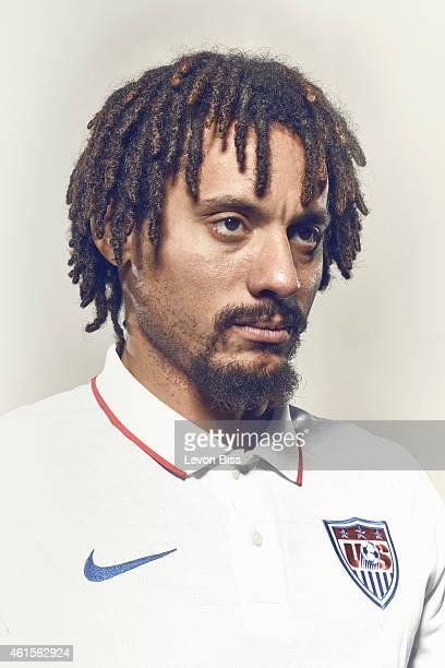 Footballer Jermain Jones is photographed for Time magazine on March 3 2014 in Frankfurt Germany