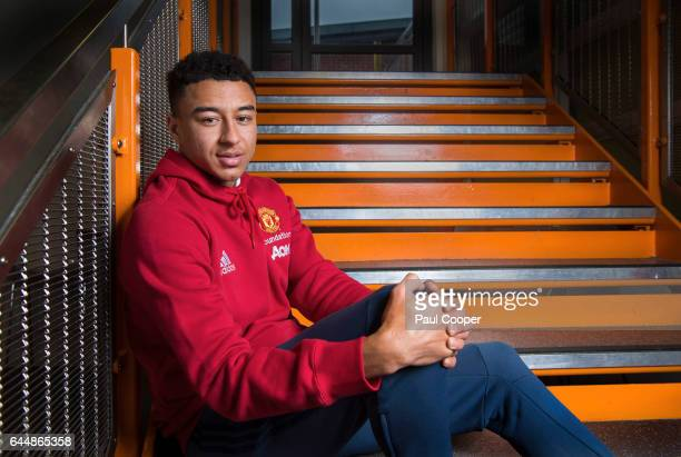Footballer Jessie Lingard is photographed on February 8 2017 in Manchester England