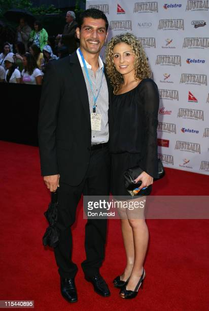 Footballer John Aloisi and his wife Angela arrive for the world premiere of Australia at the George Street Greater Union Cinemas on November 18 2008...