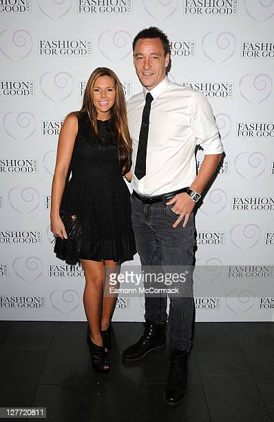 Footballer John Terry and Wife Toni Poole attend charity event 'Fashion for Good' at Brooklands Hotel on September 30 2011 in Weybridge England