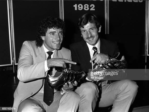 Footballer Kevin Keegan making his final appearance under the Southampton banner to collect the AdidasShoot magazine Golden Shoe Award in London as...