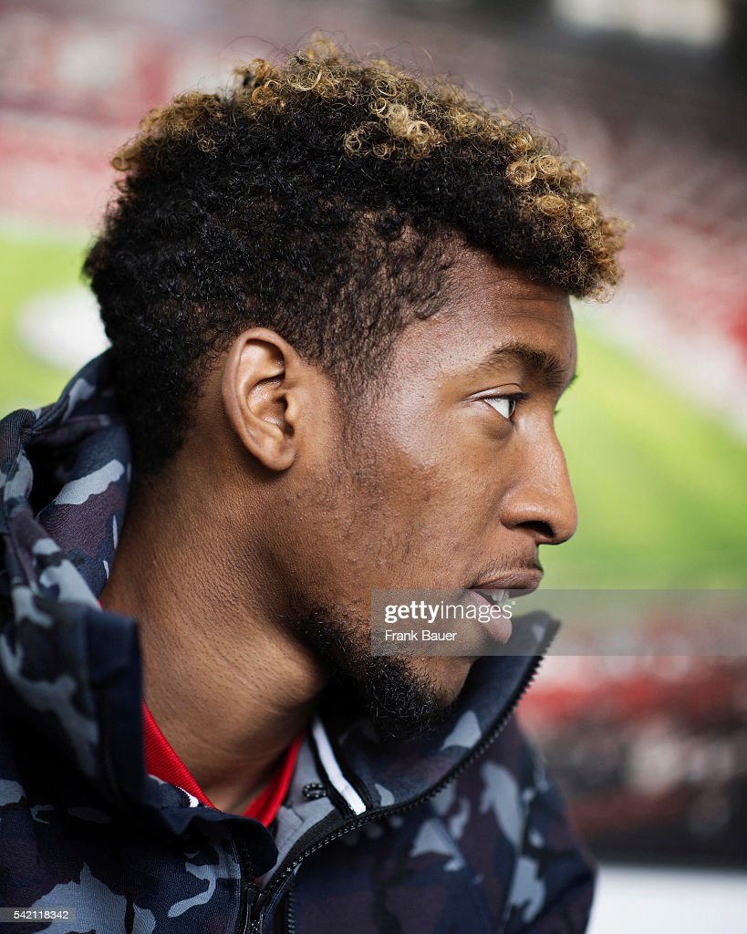 Footballer Kingsley Coman is photographed for the Guardian on April 20, 2016 in Munich, Germany.