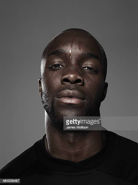 Footballer Lassana Diarra is photographed on April 1 2010 in Paris France