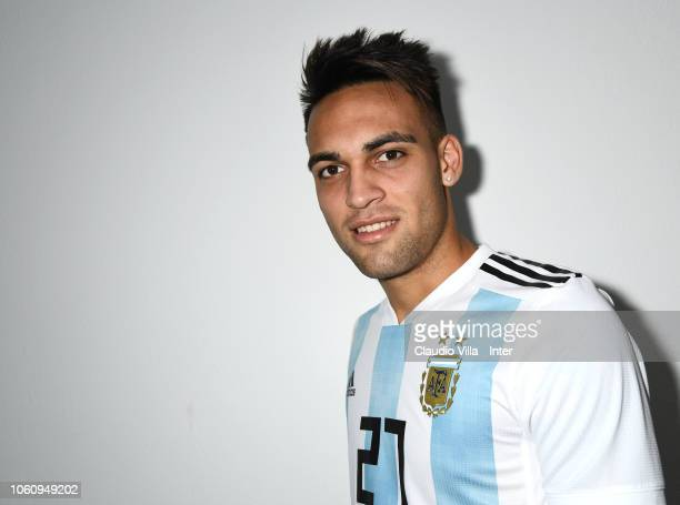 Footballer Lautaro Martinez is photographed on November 9 2018 at Appiano Gentile Como Italy