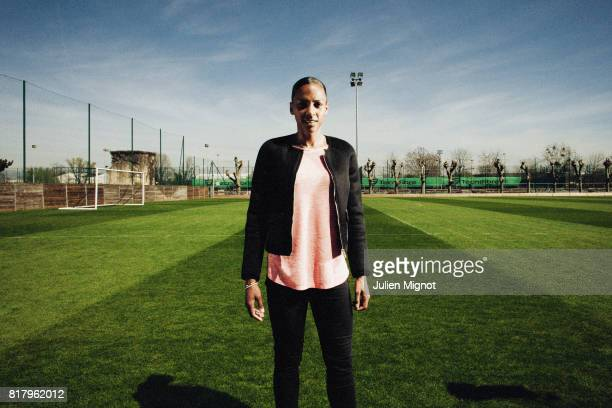 Footballer MarieLaure Delie is photographed for Grazia Magazine France on April 13 2015 in Paris France