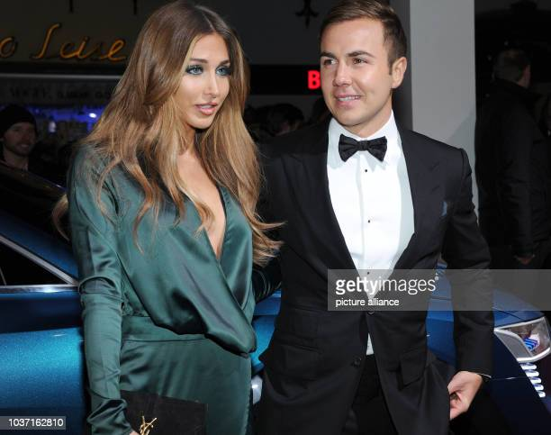 Footballer Mario Goetze and his girlfriend AnnKathrin Broemmel arriving at Audi Night in Kitzbuehel Austria 22 Janaury 2016 Audi Night traditionally...