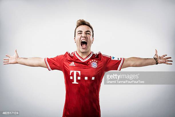 Footballer Mario Gotze is photographed for FourFourTwo magazine on November 6 2013 in London England