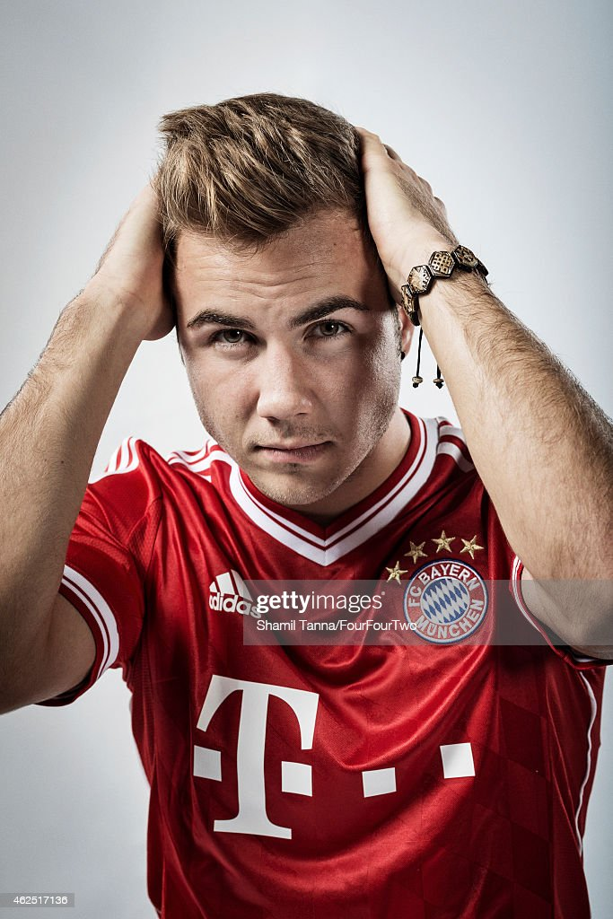 Footballer Mario Gotze is photographed for FourFourTwo magazine on November 6, 2013 in London, England.