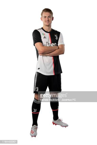 Footballer Matthijs De Ligt poses for a portrait shoot on July 18, 2019 in Turin, Italy.